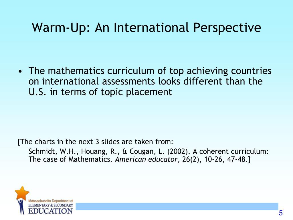 Warm-Up: An International Perspective