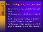 intro asking analytical questions