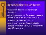 intro outlining the key factors
