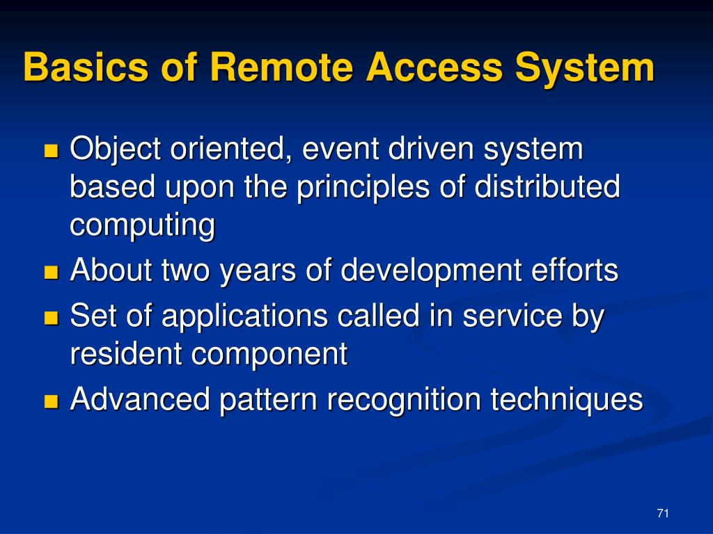 Basics of Remote Access System