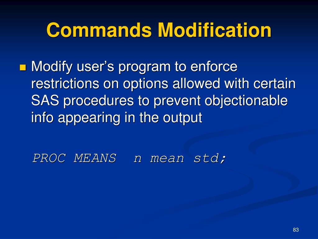 Commands Modification