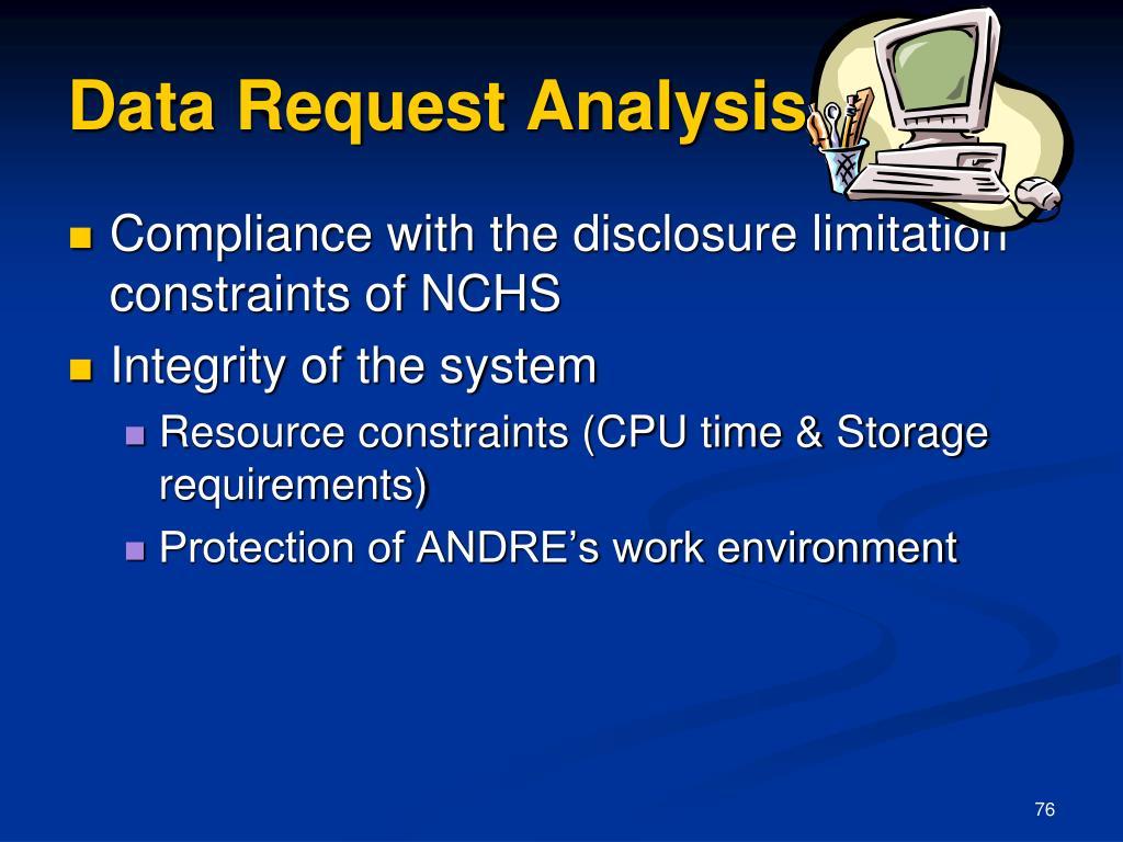 Data Request Analysis