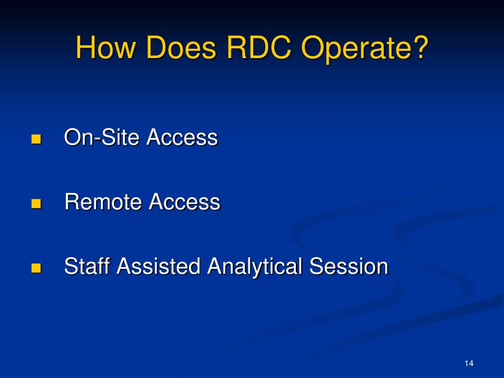 How Does RDC Operate?