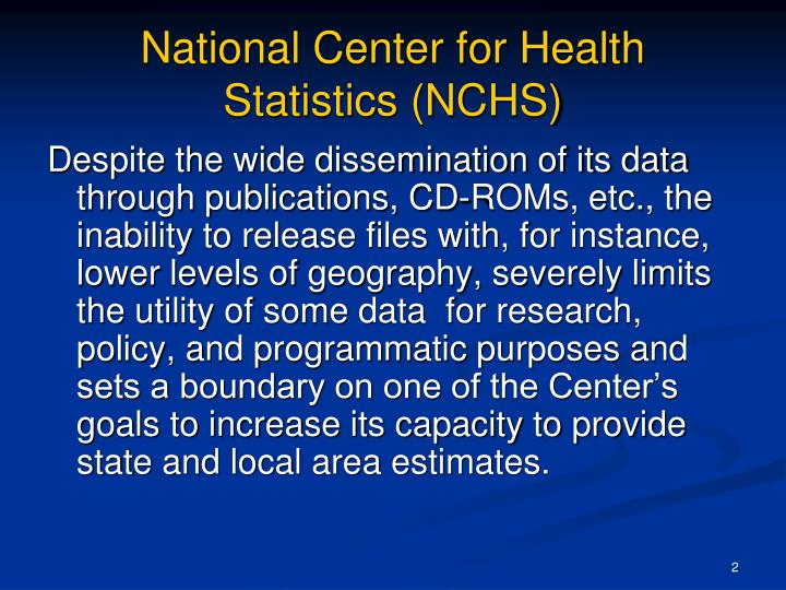 National center for health statistics nchs