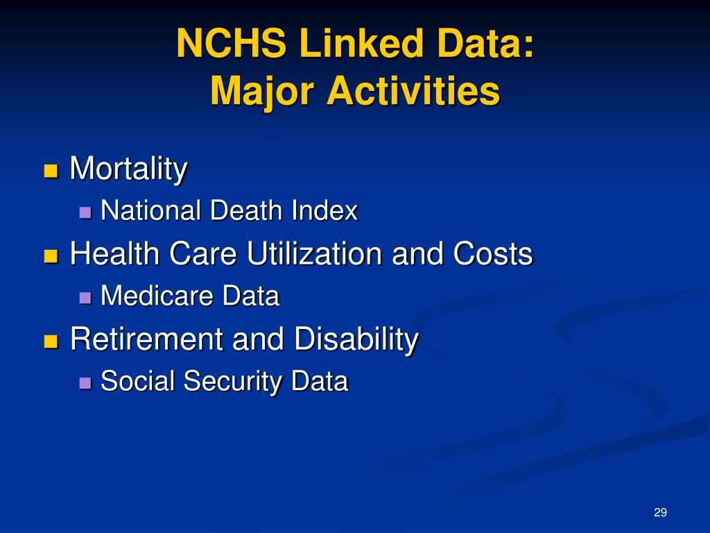 NCHS Linked Data: