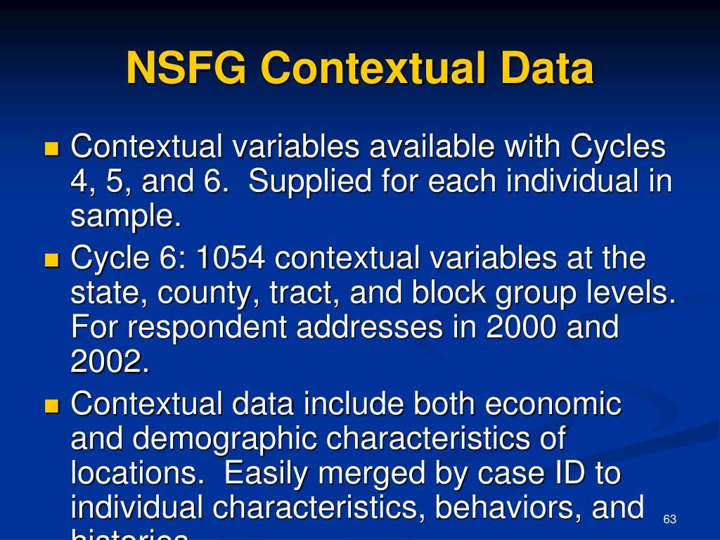 NSFG Contextual Data
