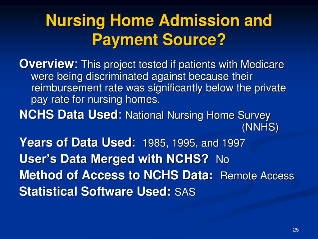 Nursing Home Admission and
