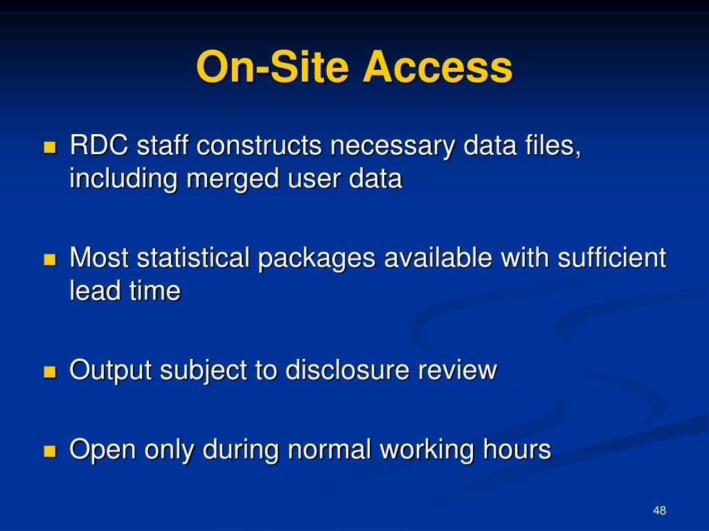 On-Site Access