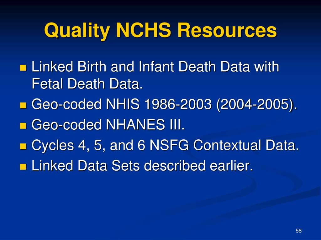 Quality NCHS Resources