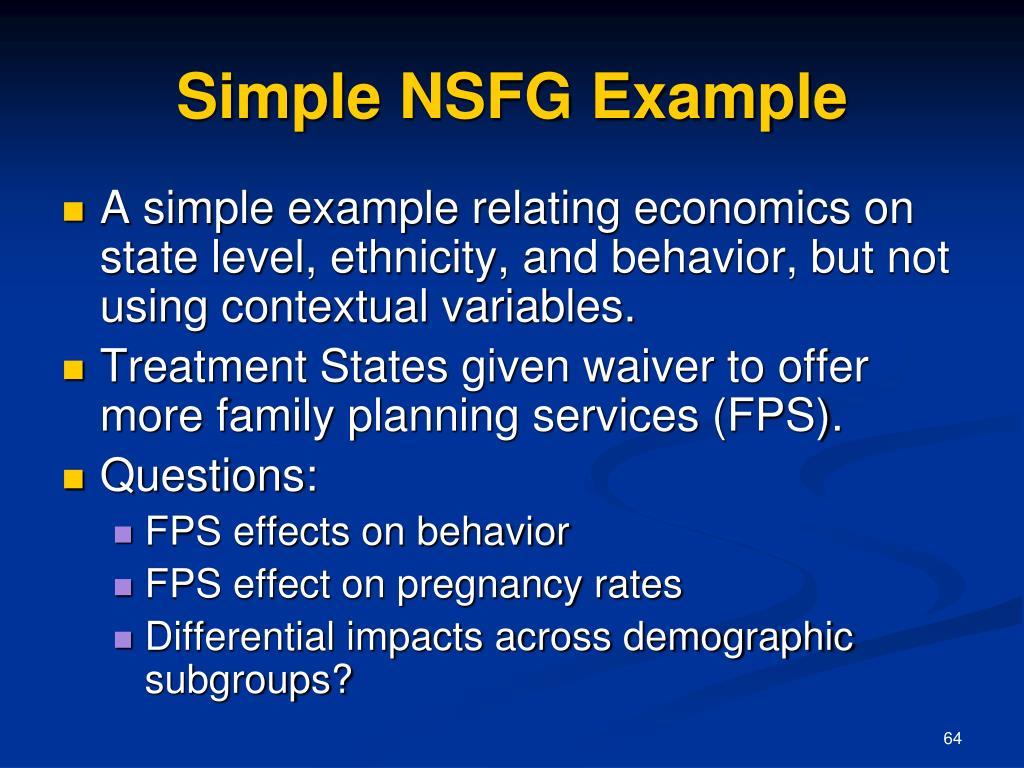 Simple NSFG Example