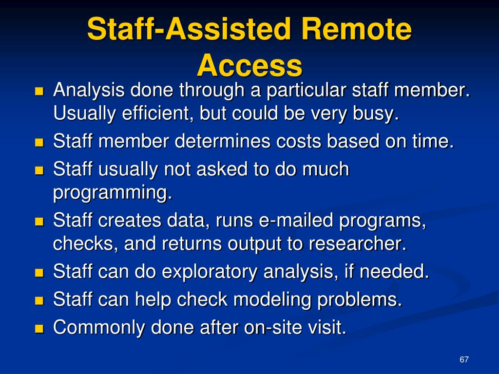 Staff-Assisted Remote Access