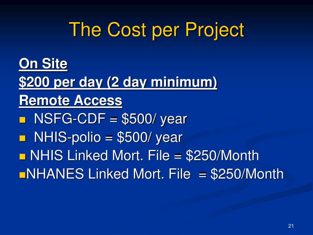 The Cost per Project