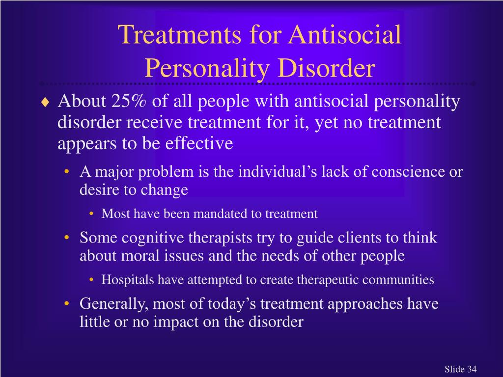 Treatments for Antisocial Personality Disorder