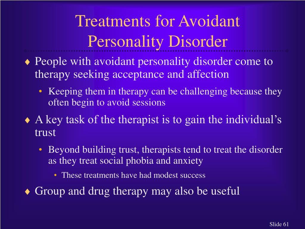 Treatments for Avoidant