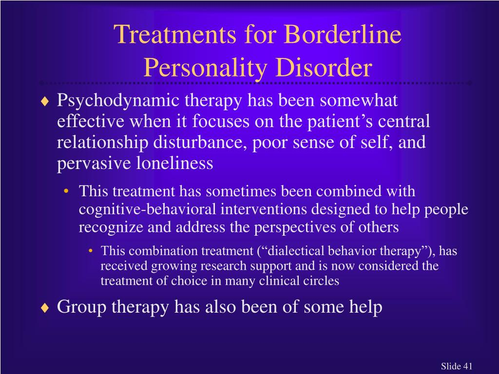 Treatments for Borderline Personality Disorder