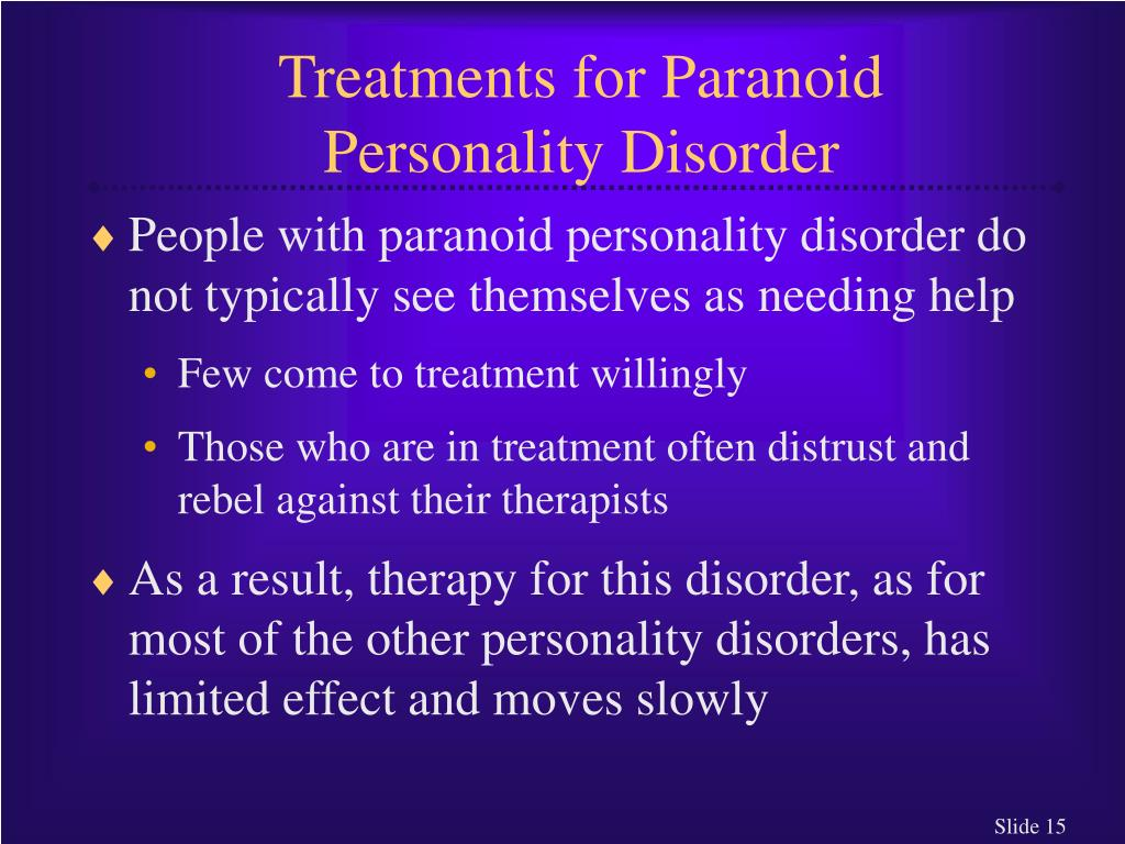 Treatments for Paranoid