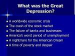 what was the great depression