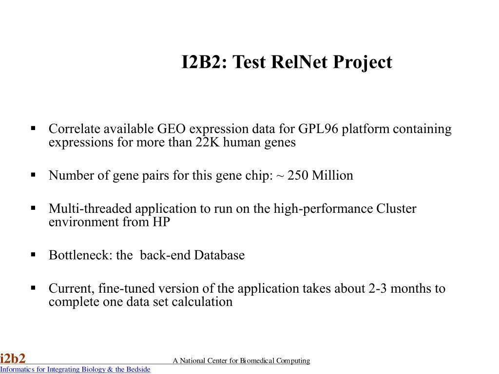 I2B2: Test RelNet Project