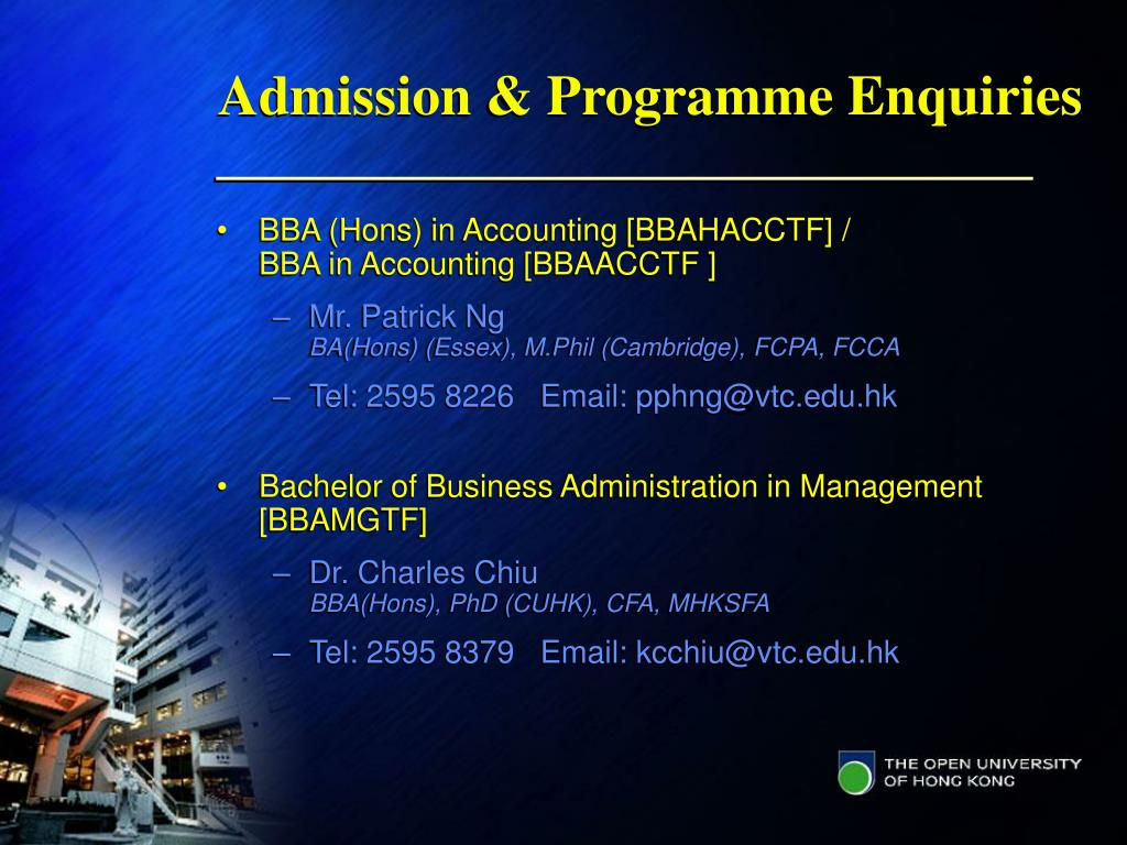 Admission & Programme Enquiries