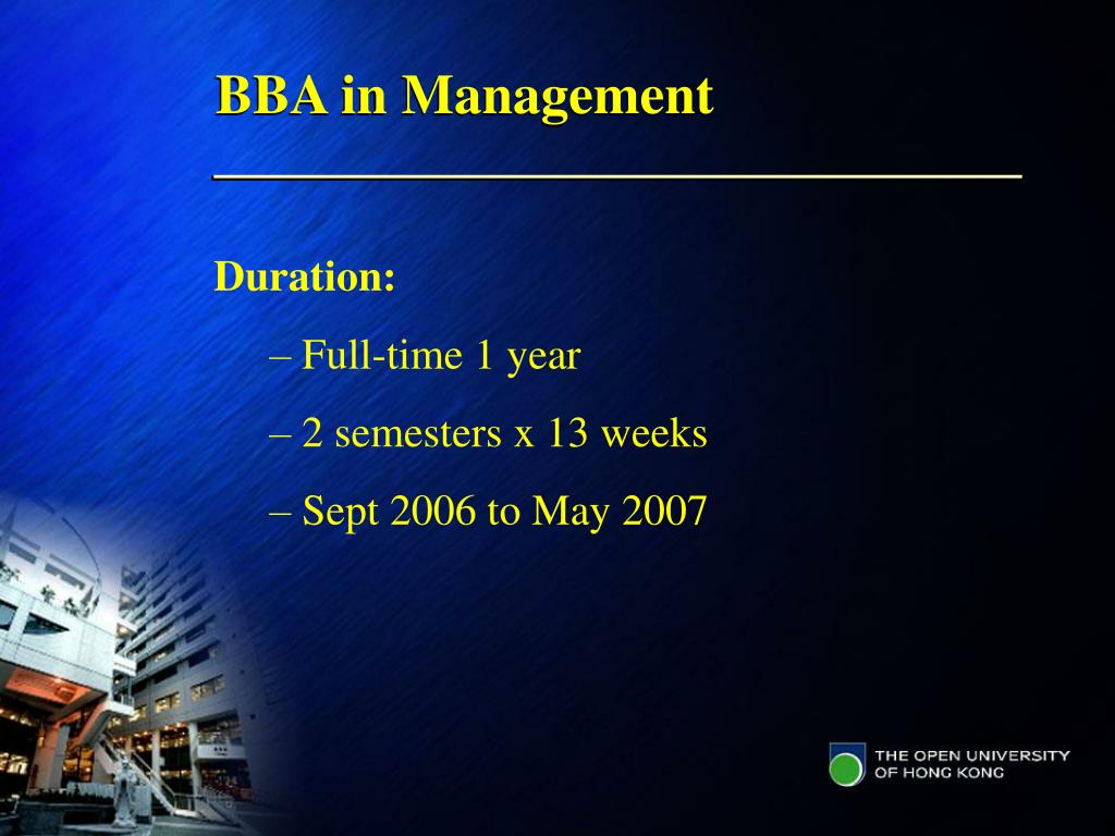 BBA in Management