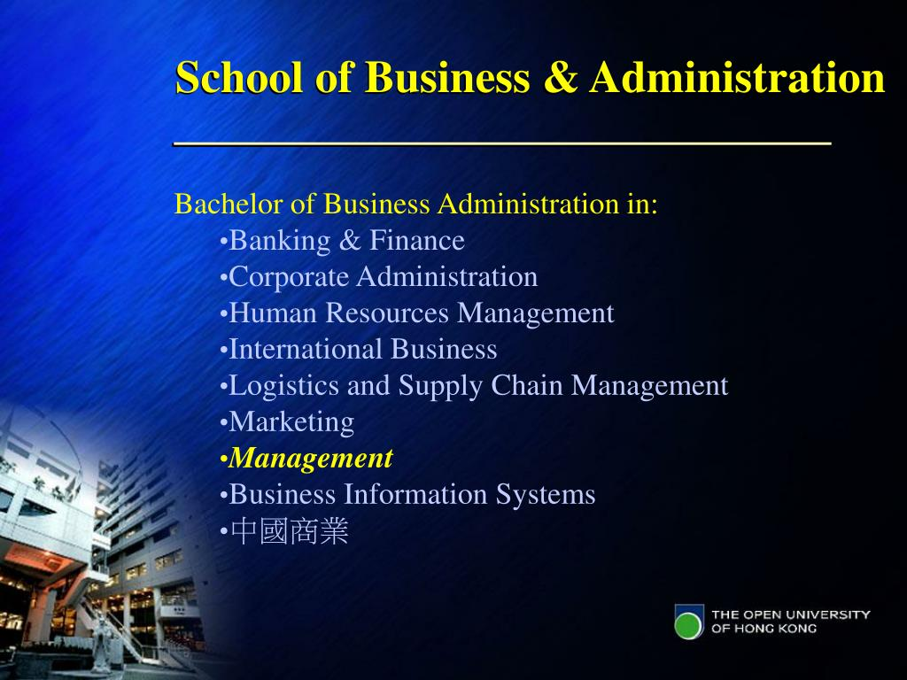 School of Business & Administration
