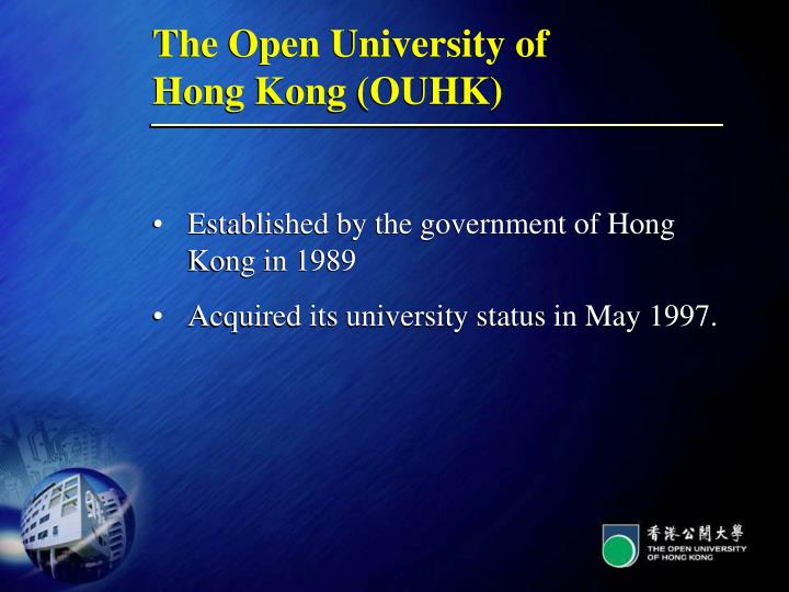 The open university of hong kong ouhk