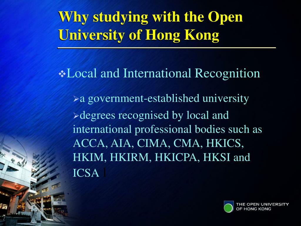 Why studying with the Open University of Hong Kong