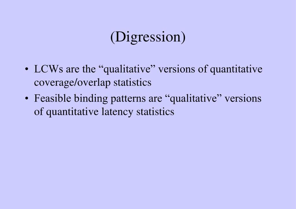 (Digression)