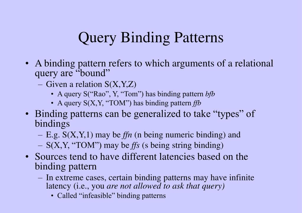 Query Binding Patterns