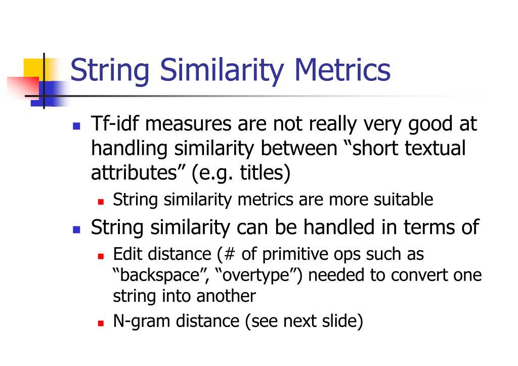 String Similarity Metrics