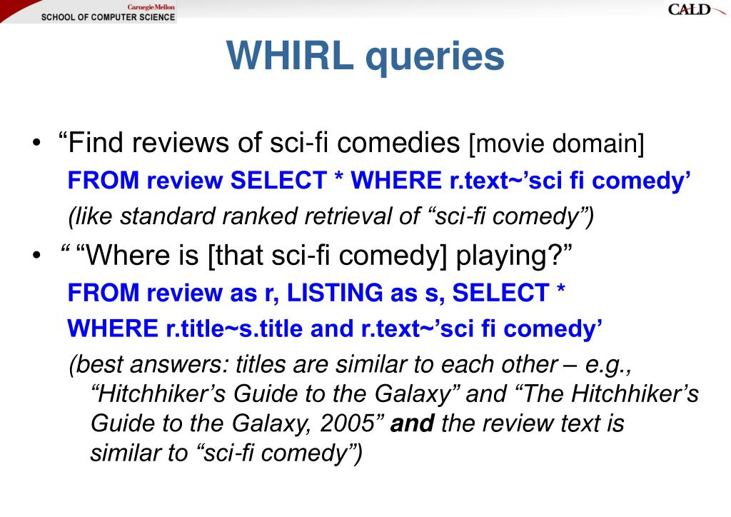 WHIRL queries