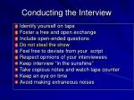 conducting the interview17