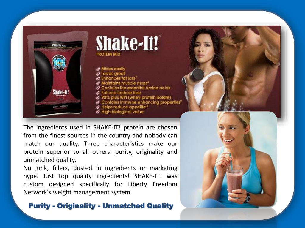The ingredients used in SHAKE-IT! protein are chosen from the finest sources in the country and nobody can match our quality. Three characteristics make our protein superior to all others: purity, originality and unmatched quality.