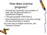 how does science progress
