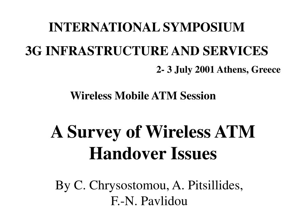 a survey of wireless atm handover issues l.