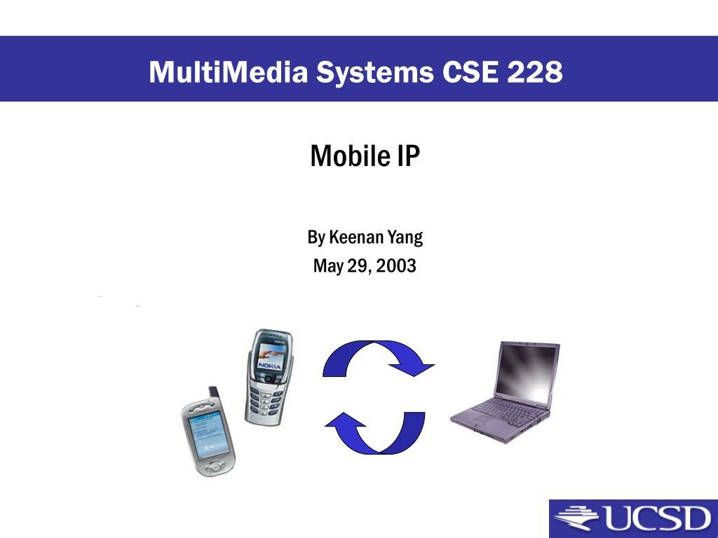 mobile ip by keenan yang may 29 2003 l.