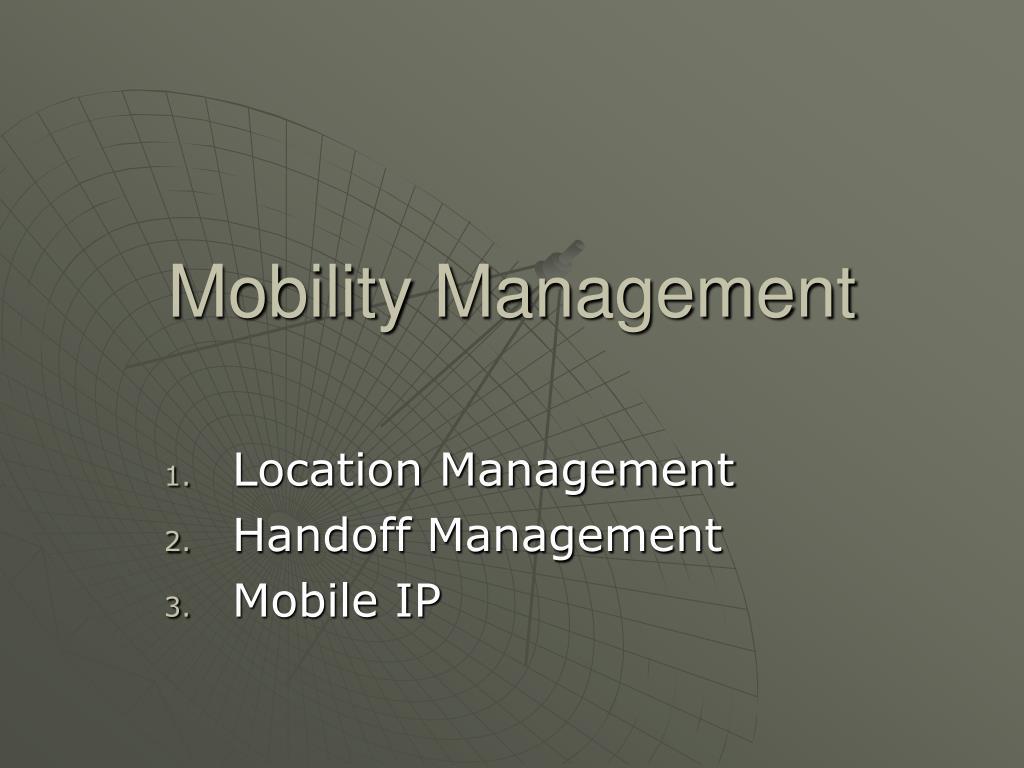 mobility management l.