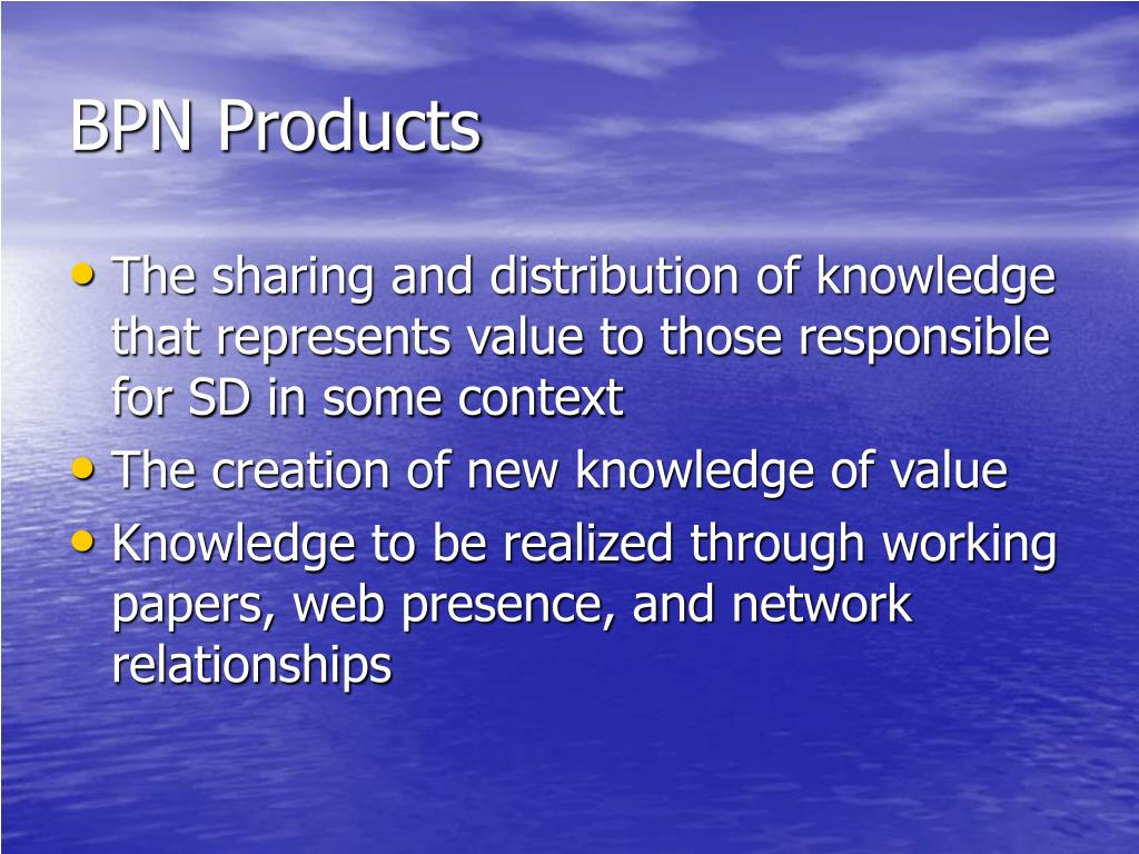 BPN Products