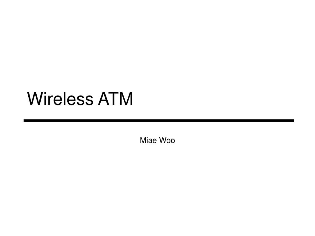 wireless atm l.