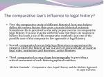 the comparative law s influence to legal history