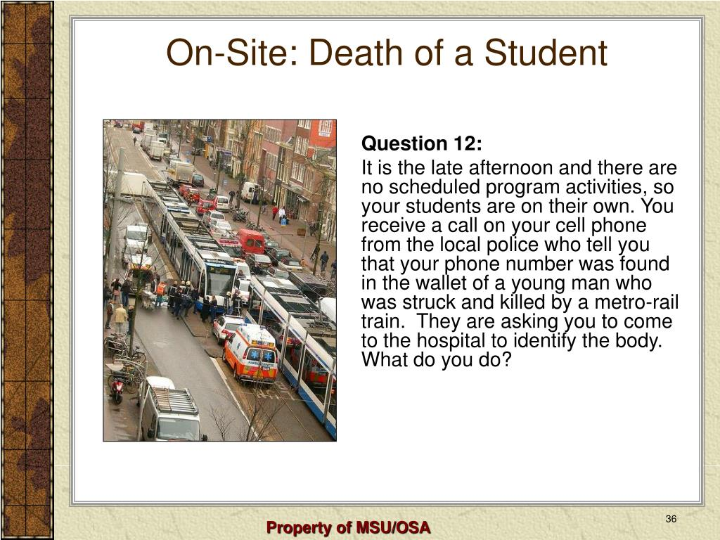 On-Site: Death of a Student
