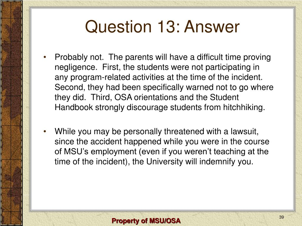 Question 13: Answer