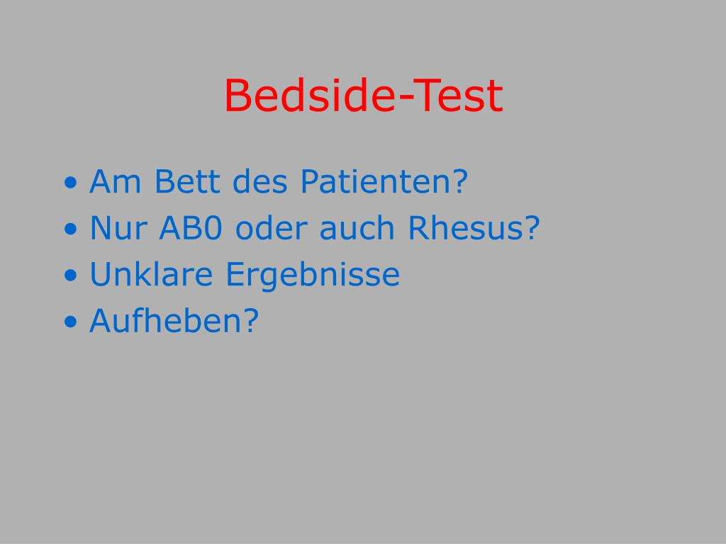 Bedside-Test