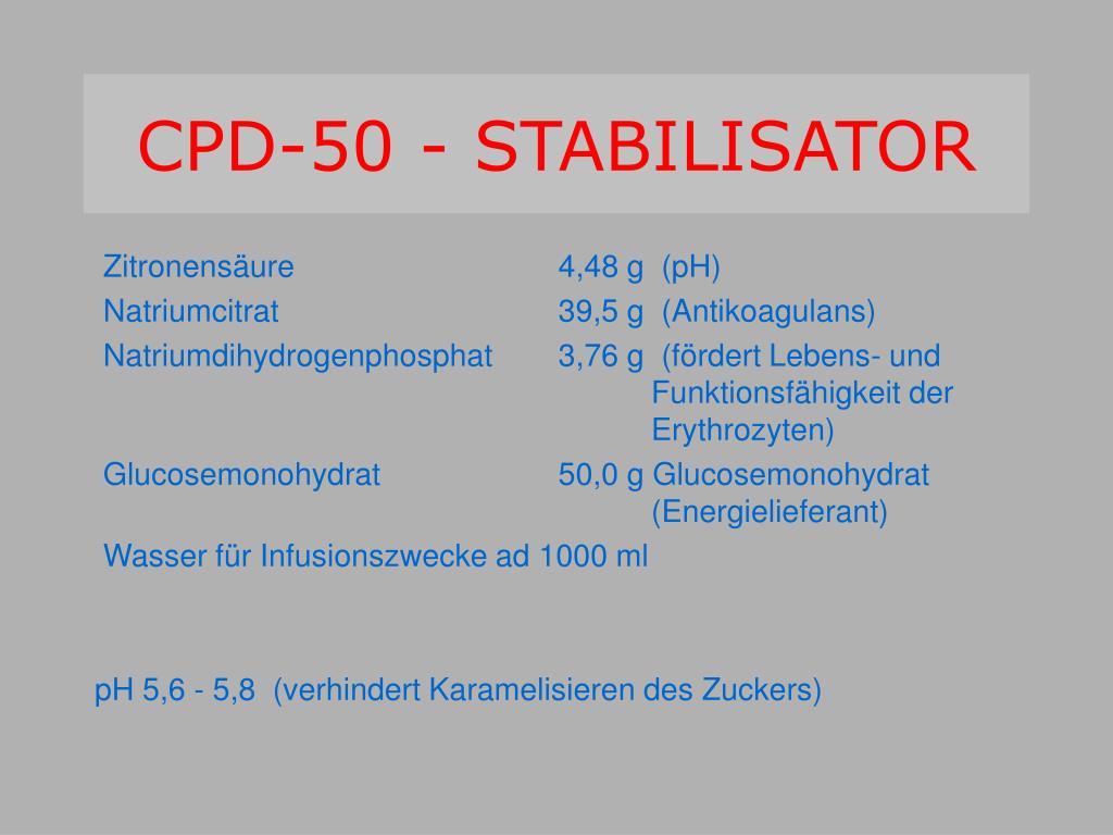 CPD-50 - STABILISATOR