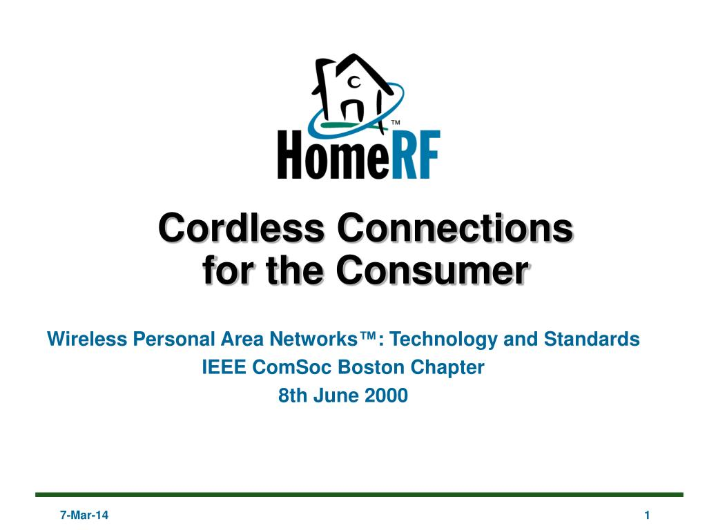 cordless connections for the consumer l.