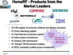 homerf products from the market leaders