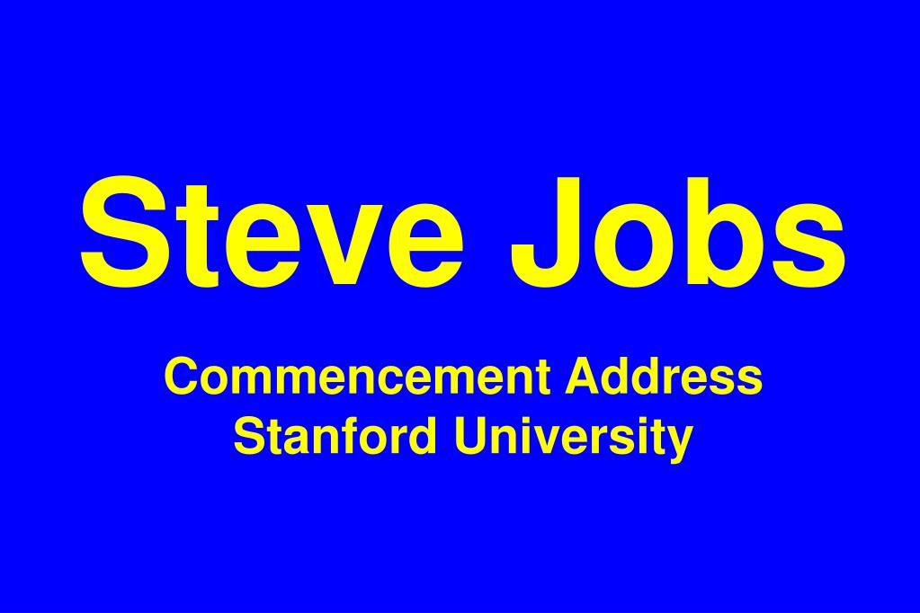 steve jobs commencement address stanford university