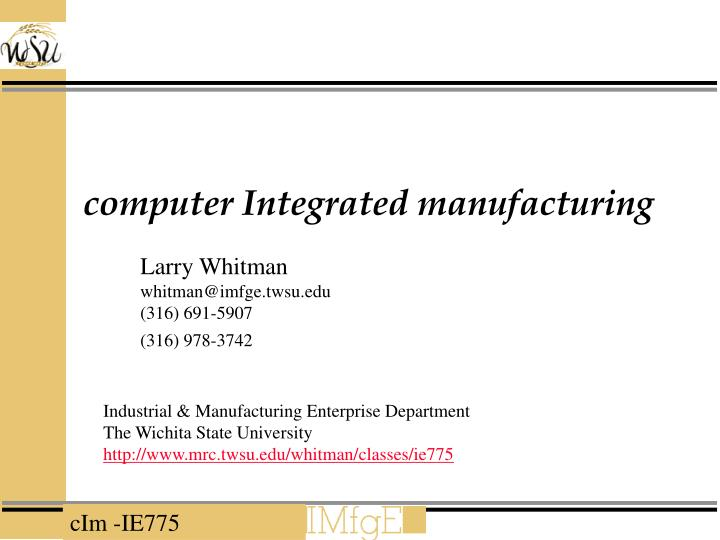 computer integrated manufacturing n.