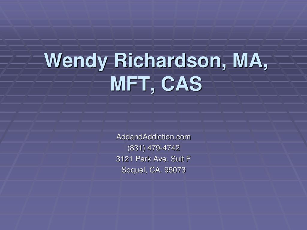 wendy richardson ma mft cas l.