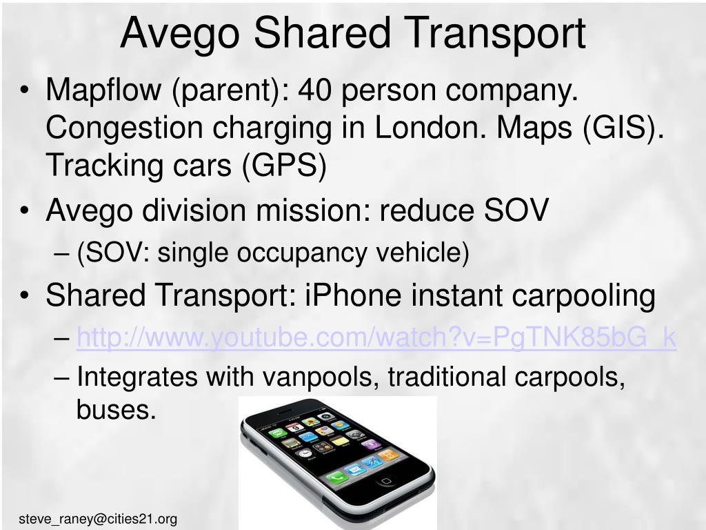 Avego Shared Transport